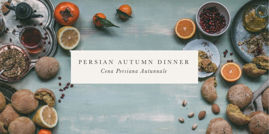 persian autumn dinner, saturday 5 november