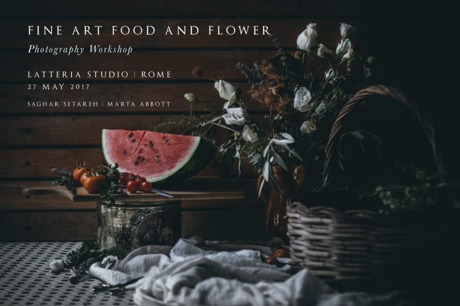 Fine Art, Food and Flower Photography Workshop – Saturday 27May